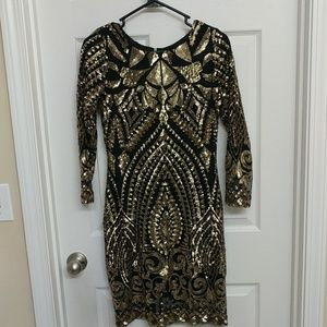Gianni Bini Sequined Cocktail Dress